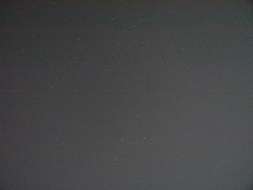 Example photograph of stars with light pollution.